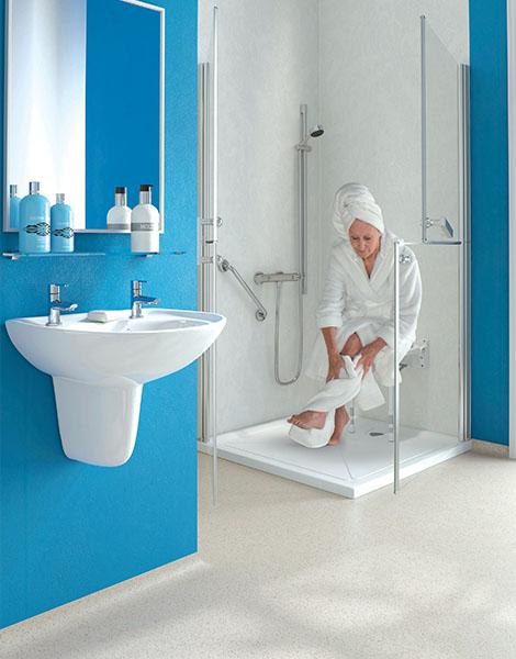 douche confort s curis e pour personne g et mobilit. Black Bedroom Furniture Sets. Home Design Ideas